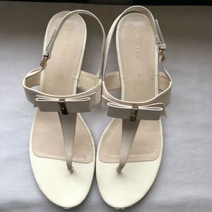Cole Haan cream colored leather sandals sz 10.5